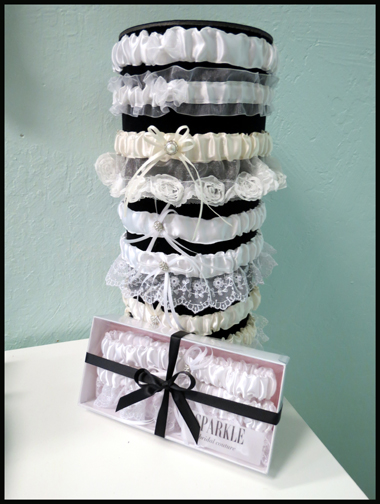 SPARKLE Garters for brides sizes 14-30 now available at SPARKLE bridal couture!