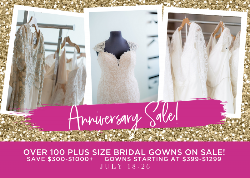 SPARKLE bridal gown sale